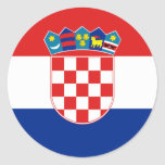 Croacia Etiqueta Redonda