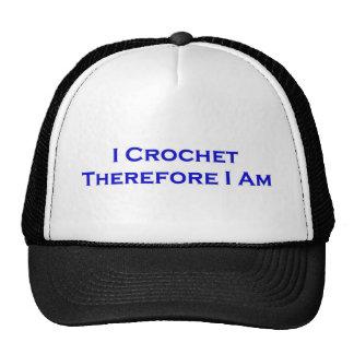Crochet por lo tanto me estoy gorros bordados