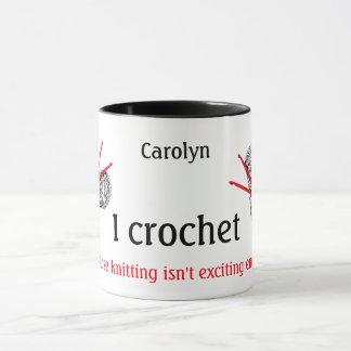 Crochet porque el hacer punto no es bastante taza
