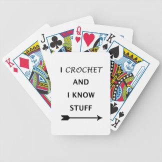 Crochet y sé la materia baraja de cartas bicycle