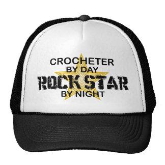 Crocheter por el día estrella del rock por noche gorro de camionero