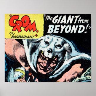 Crom y el Gian más allá de la impresión #1 del Póster