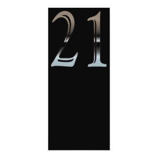 Cromo 21 invitación 10,1 x 23,5 cm