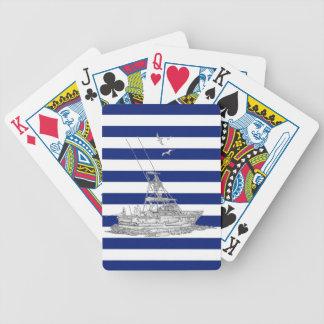 Cromo de la pesca de la aguja en rayas de la baraja de cartas