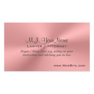 Cromo-efecto rosado de lujo del abogado/del tarjetas de visita