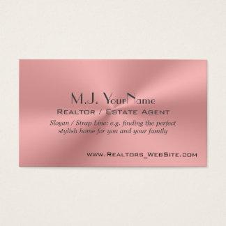 Cromo-efecto rosado de lujo del agente tarjeta de negocios