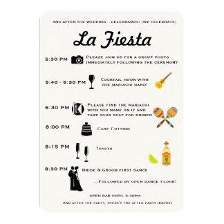 Cronología mexicana del programa del boda o de la invitación 12,7 x 17,8 cm