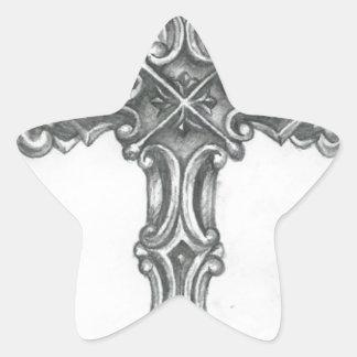 Cross.jpg Calcomania Forma De Estrella