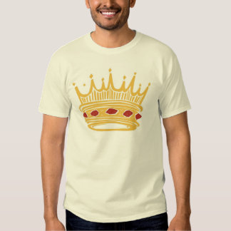 Crown With Jewels de un rey de oro Camisetas