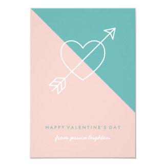 Cruce a mi tarjeta del día de San Valentín de la Invitación 8,9 X 12,7 Cm