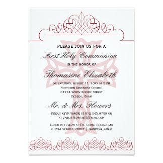 Cruce las primeras invitaciones de la comunión invitacion personalizada
