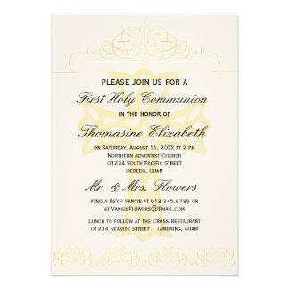 Cruce las primeras invitaciones de la comunión san comunicado personal