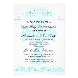 Cruce las primeras invitaciones de la comunión san anuncios personalizados