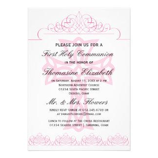 Cruce las primeras invitaciones de la comunión san comunicado