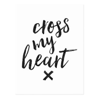 Cruce mi corazón - tarjeta inspirada