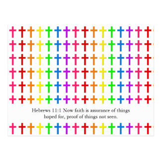 Cruces del arco iris postales