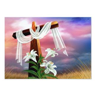 Cruces y escenas de Domingo de Pascua y de Ramos Invitación Personalizada
