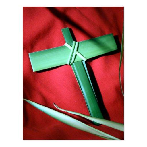 Cruces y escenas de Domingo de Pascua y de Ramos Postal