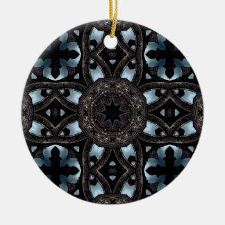 Cruces y medallones medievales góticos adorno redondo de cerámica