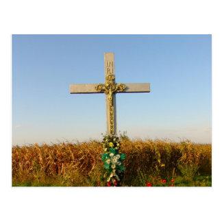 Crucifijo del borde del camino, Rumania Postal