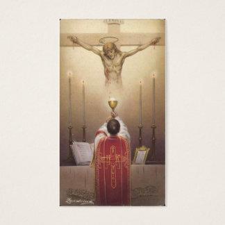 Crucifijo sacerdotal del altar de la conmemoración tarjeta de visita