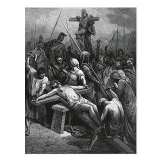Crucifixión 1866 de Jesús del grabado de Gustavo Postal