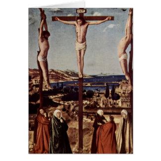 Crucifixión c1455 tarjeta de felicitación