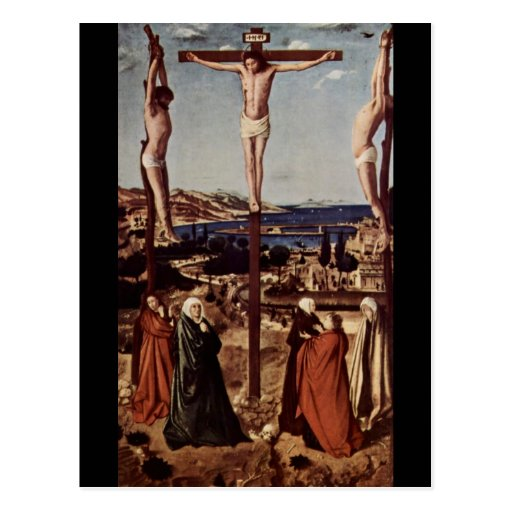 Crucifixión c1455 tarjetas postales