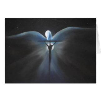 Crucifixión de Cristo con el Espíritu Santo, poema Tarjeton
