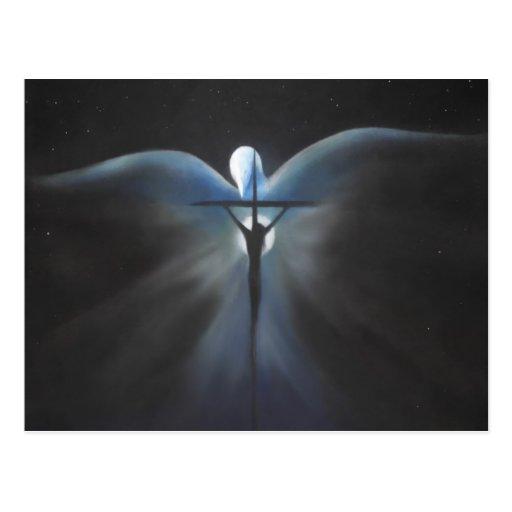 Crucifixión de Cristo con el Espíritu Santo Postales