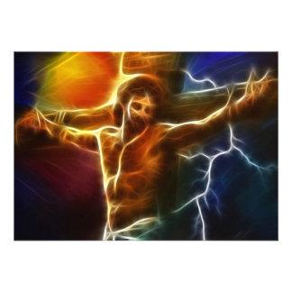 Crucifixión de electrificación de Jesús Invitación Personalizada