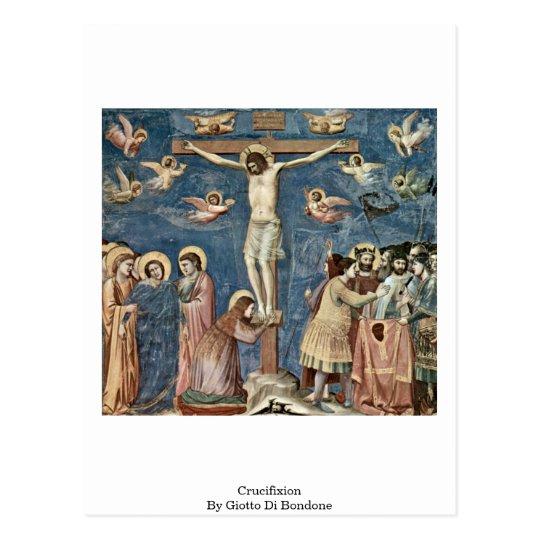 Crucifixión de Giotto Di Bondone Postal