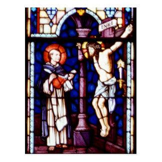 Crucifixión de Jesús - vitral Tarjeta Postal