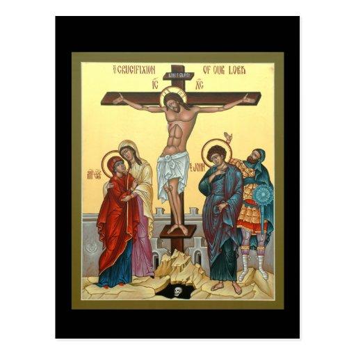 Crucifixión del señor Prayer Card Tarjetas Postales