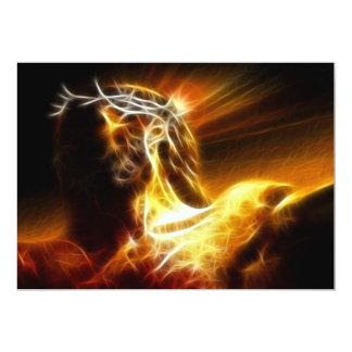 Crucifixión dramática de Jesús Invitación 12,7 X 17,8 Cm
