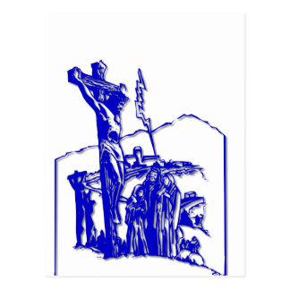 Crucifixión - Jesús en la cruz - Viernes Santo Postal