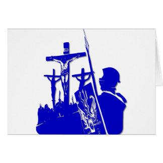 Crucifixión - Jesús en la cruz - Viernes Santo Tarjeta