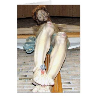 Crucifixión - Jesús en la cruz - Viernes Santo Tarjeta De Felicitación