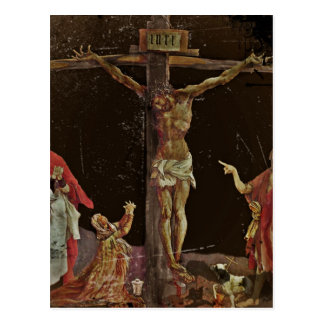 Crucifixión (salterio del panel central) postal
