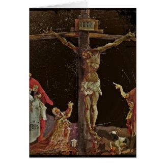 Crucifixión (salterio del panel central) tarjeta de felicitación