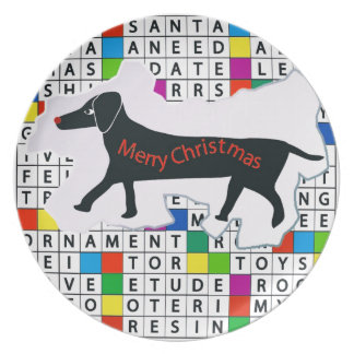 Crucigrama del perro con el Dachshund Platos De Comidas