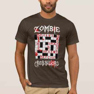 Crucigrama del zombi camiseta