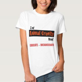 Crueldad del animal del extremo camisetas
