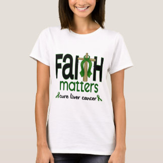 Cruz 1 de las materias de la fe del cáncer de camiseta