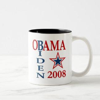 Cruz 2008 de Obama Biden Taza De Dos Tonos