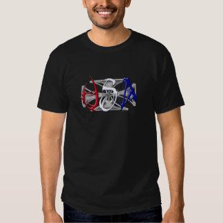 Cruz 2side del hierro de los E.E.U.U. Camiseta