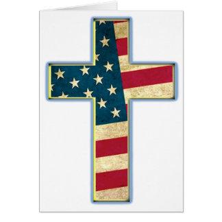 Cruz americana #2 tarjeta de felicitación