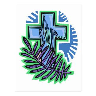 Cruz azul de la palma postal