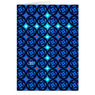Cruz azul (edad y plantilla de la fotografía) tarjeta de felicitación