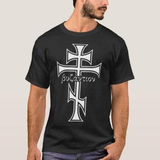 Cruz bizantina camiseta